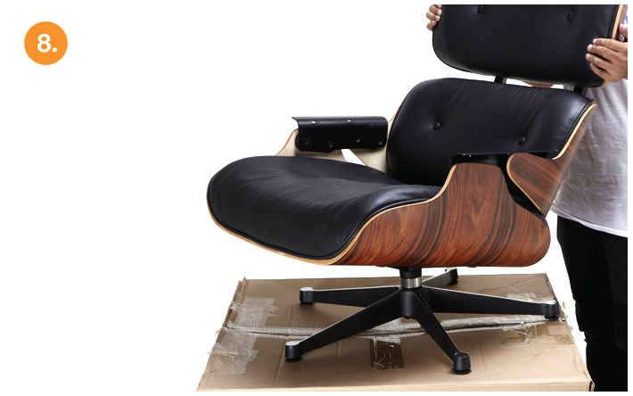 Eames lounge chair replica white manhattan home design for Replica vitra eames