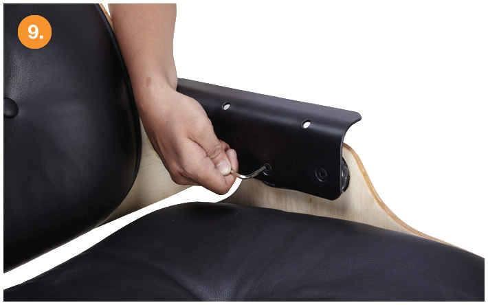 eames lounge chair replica assemble step-9