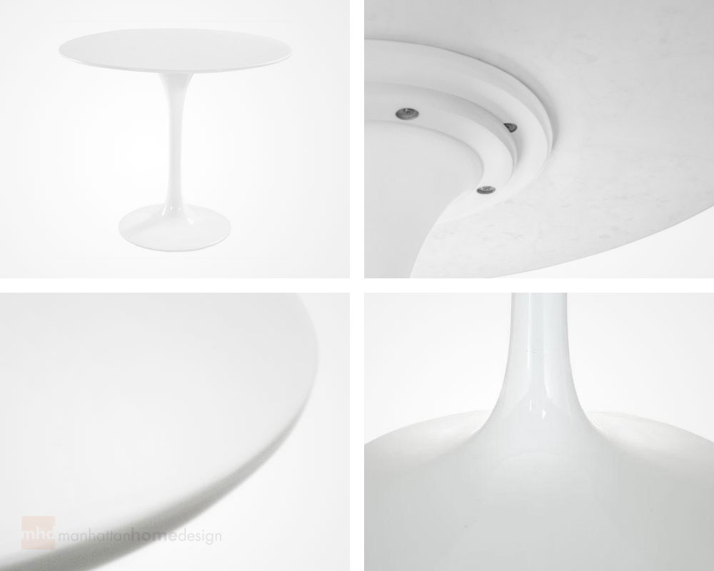 Chic And Simple With A Fiberglass Sheen, This Table Shows The Classic Style  Of Neofuturism And Eero Saarinen.