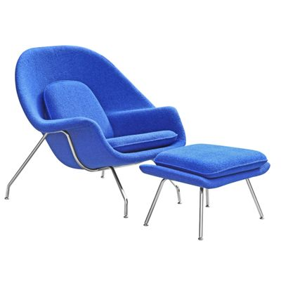 Womb Lounge Chair & Ottoman Reproduction