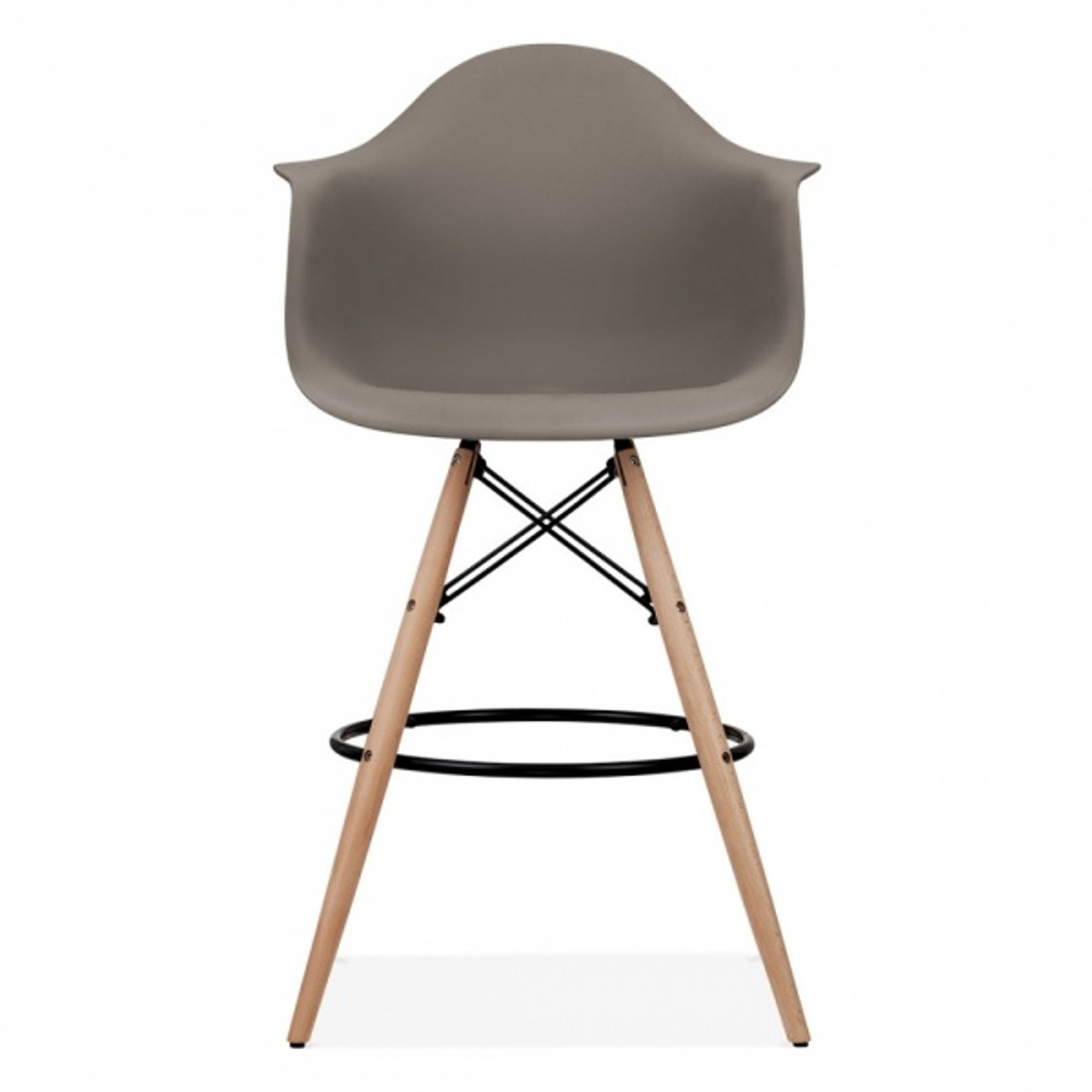 Eames Inspired Scandi PM Armchair Stool   Truffle