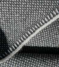 Eco Gray Bird's Eye Knit Cashmere Throw