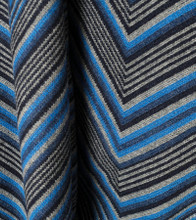 Jacquard Knit All Blue Throw