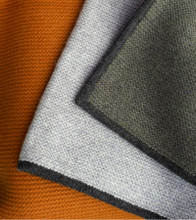 Gray & Rust Hopscotch Cashmere Throw
