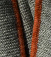Platinum & Rust Purl Knit Yak Down Throw