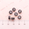 Black and White Round Alphabet Plastic Beads (4x7mm) - 350 pieces approx.