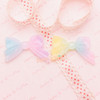 Glittery Rainbow Gradient Ribbon Cabochon - 4 pieces