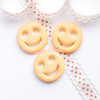 Smiley Face Fake Food Biscuit Resin Cabochon - 6 pieces
