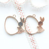 Bunny Egg Open Bezel Gold Charm - 2 pieces