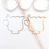 Dolly Cup Open Bezel Charm - 3 pieces