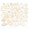 Pre-Order: Magical Cat with Wings Open Bezel Gold Charm (4 pieces)