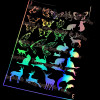 Holographic Butterflies & Animals Design Film (for UV Resin)
