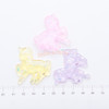 Iridescent Unicorn Clear Resin Cabochon - 5 pieces