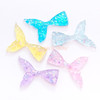 Iridescent Glitter Flakes Mermaid Tail Resin Cabochon - 5 pieces