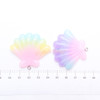 Rainbow Ombre Seashell Charm or Cabochon - 4 pieces
