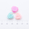 Classic Rose Flower Flat Back Resin Cabochon - 14 pieces