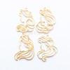 Princesses Open Bezel Metal Charm (Yellow Gold) - 4 pieces