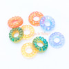 Translucent Round Donuts Resin Cabochon - 8 pieces