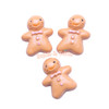 Gingerbread Man Flatback Resin Cabochon - 6 pieces