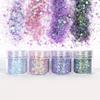 Lilac Violet Shade Colours Glitter Set (4 pieces)