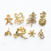 Christmas Metal Embellishment Set - 8 pieces