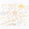 Capricorn Open Bezel Metal Charm (Rose Gold) (3 pieces)