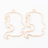 Virgo Open Bezel Metal Charm (Gold) (4 pieces)