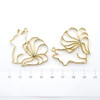 Pre-Order: Nine Tails Fox Open Bezel UV Resin Gold Charm (4 pieces)