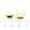 Bunny Ears Glue on Cap Hoop Charm (2 pieces)