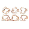 Fairytale Theme Open Bezel Rose Gold Set (6 pieces)