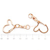 Rose Gold Heart Snap Clip Key Chain (3 pieces)
