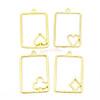 Poker Cards Theme Open Bezel Gold Set (4 pieces)