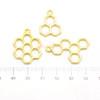 Bee Honey Comb Theme Open Bezel Charms (3 pieces)