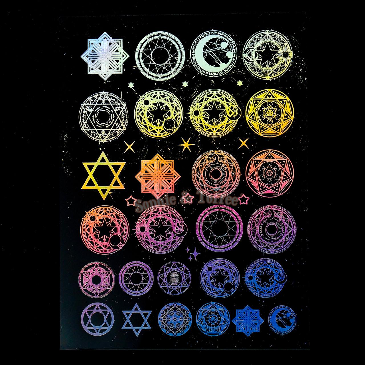 Holographic Magic Circles Design Film Holographic Magic