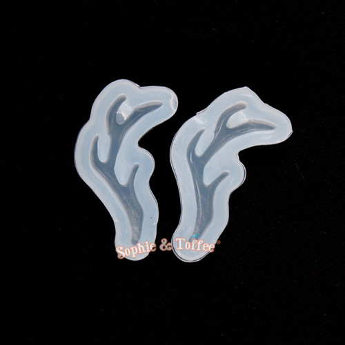 Reindeer Horn Silicone Resin Mold - 1 piece