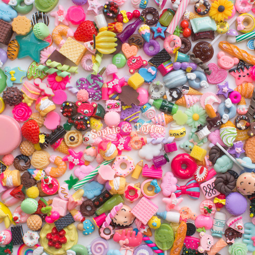 Mixed Designs Assortment Cabochons Grab Bag - 20 pieces