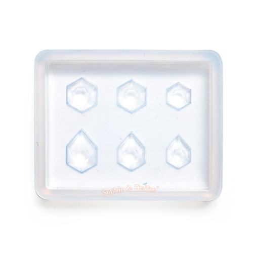 Mini Hexagon Gems Silicone Resin Mold