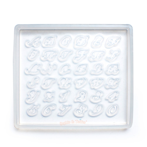 Alphabets Silicone Resin Mold