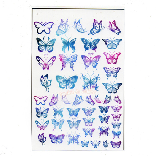 Enchanting Butterflies Gradient Design Film (for UV Resin)
