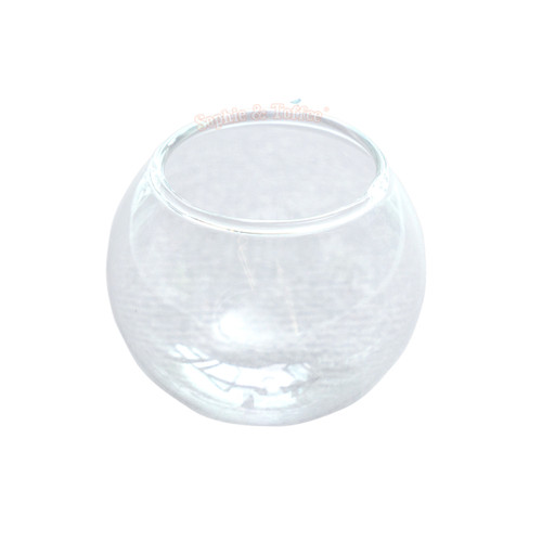 Glass Dome Fish Bowl Terrarium - 2 pieces (35mm)