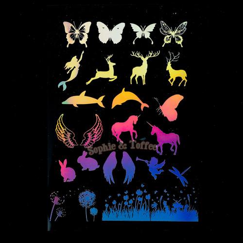 Holographic Mystic Creatures Design Film (for UV Resin)