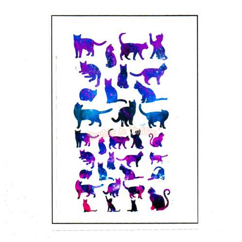 Galaxy Theme Cat Design Film (for UV Resin)
