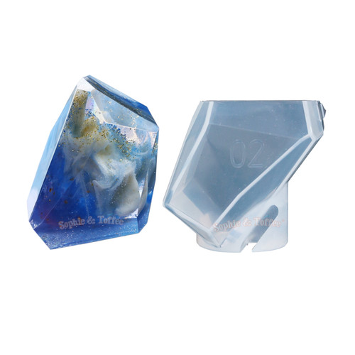 Large Faceted Quartz Silicone Mold
