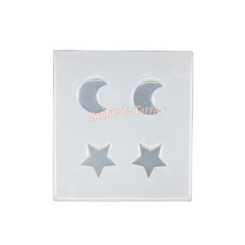 Galaxy Moon and Stars Silicone Mold