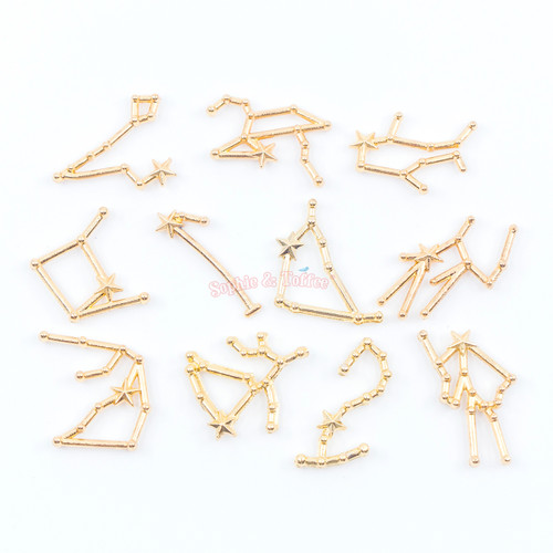 Galaxy Constellations Resin Filler Embellishments - 12 pieces