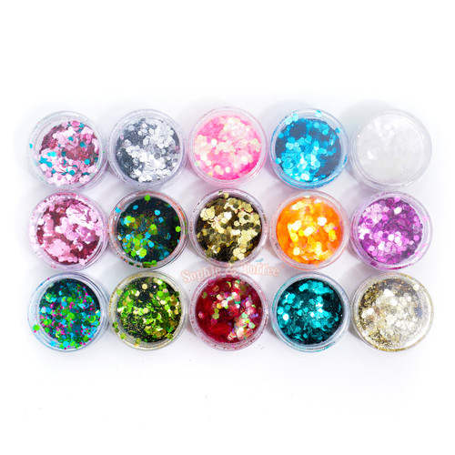 Glitter Mermaid Scales (15 Colours Pack)