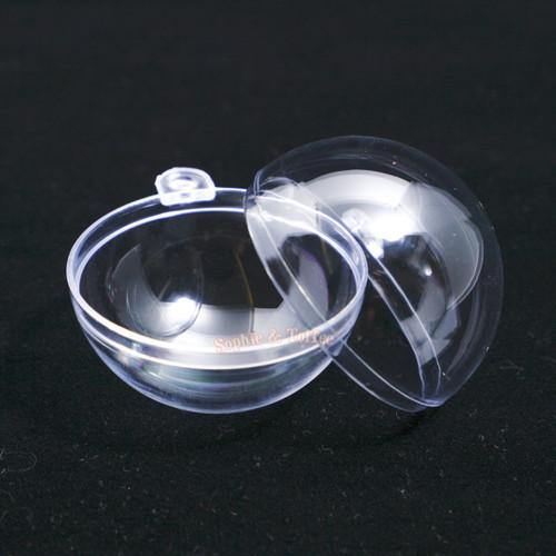 Empty Plastic Globe Ball Hanging Charm (2 pairs)