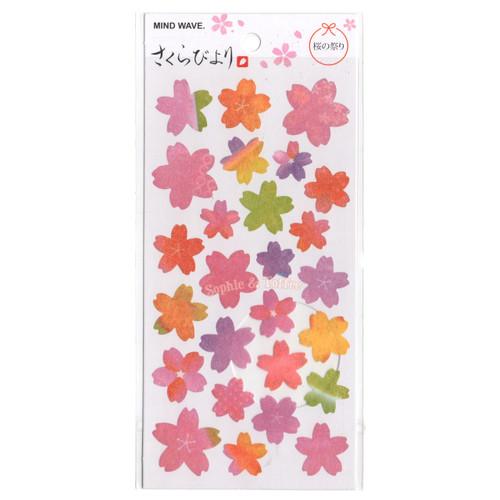 Autumn Colours Sakura Flower Stickers