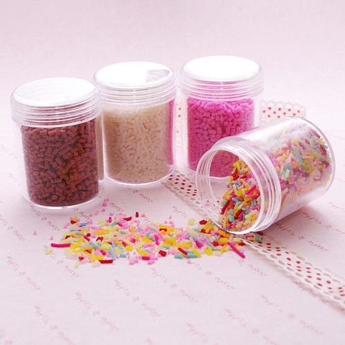 Polymer Clay Fake Colorful Sprinkles Toppings - 20 grams
