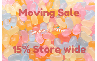"""SALE: 15% Coupon Code """"MOVINGSALE15"""" x Shipping Notice"""